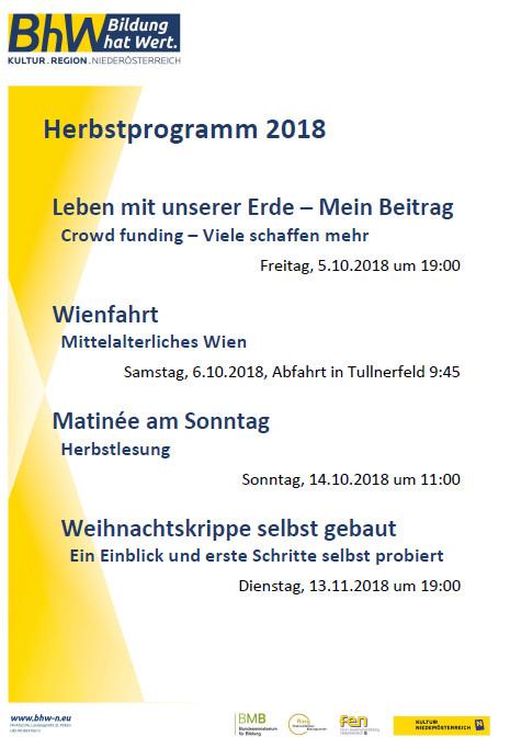 Programm Herbst 2018
