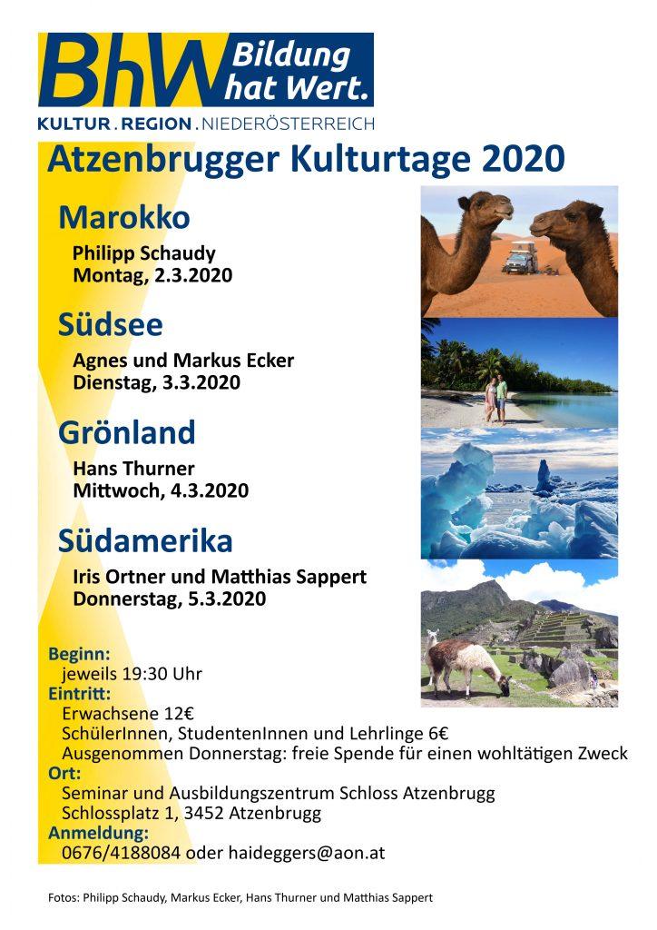 Programm Kulturtage 2020